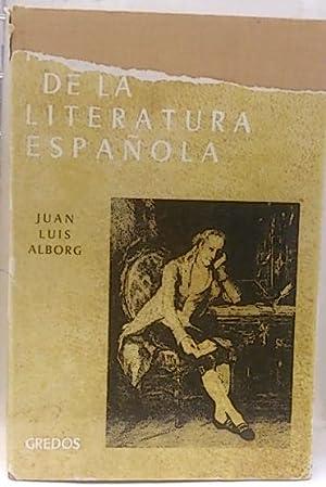 Historia de la literatura Española, III. El: Alborg Escartí, Juan
