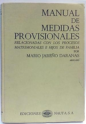 Manual de medidas provisionales relacionadas con los: Jareño Daranas, Mario