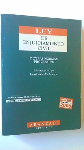 Ley de Enjuiciamiento Civil y Otras Normas: Cordón Moreno, Faustino