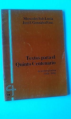 Textos Para El Quinto Centenario De America: Mercedes Sols Lucia