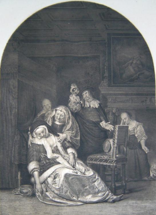 3 Frauen u. 2 Männer in einem: Van Mieris, F.