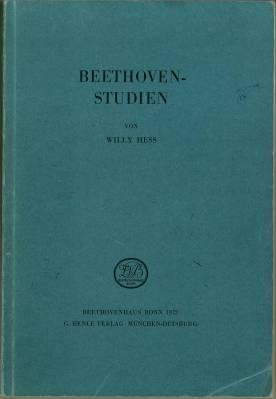 Beethoven-Studien.: Hess, Willy:
