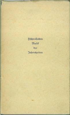 Musik der Jahreszeiten. Gedichte.: Fischer-Colbrie, Arthur: