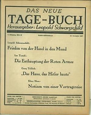 Das Neue Tage-Buch. 5. Jg., Heft 48, November 1937.: Schwarzschild, Leopold (Hg.):
