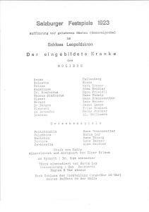 Der eingebildete Kranke des Moliere. Aufführung von geladenen Gästen (Generalprobe) im ...