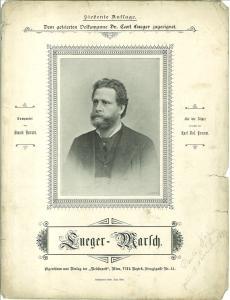 Lueger-Marsch. Componirt von E. Nerradt. Für die Zither arrangirt von Karl Jos. Fromm.: ...