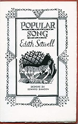 Popular Song. Drawings by Edward Bawden.: Sitwell, Edith: