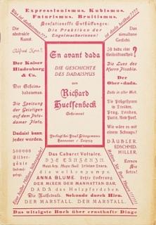 En avant dada. Eine Geschichte des Dadaismus.: Huelsenbeck, Richard (Hg.):