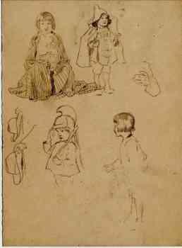 Vier maskierte Kinder.: Kutzer, Ernst: