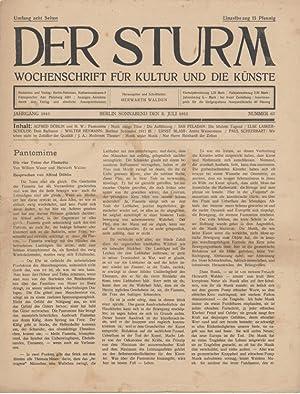 Der Sturm. Wochenschrift für Kultur und die Künste. Jahrgang 1911, Nr. 67, 8. Juli. Herausgegeben ...