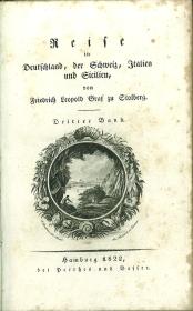 Reise in Deutschland, der Schweiz, Italien und Sicilien in den Jahren 1791-92. Dritter Band.: ...