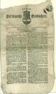 Der deutsche Beobachter. N°. 3, Donnerstag, den 6. Januar 1814.: Bremen -