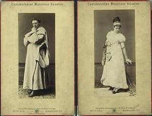 Costümstudien Münchner Künstler. [Konvolut aus vier Cabinetphotographien: No.7 ...