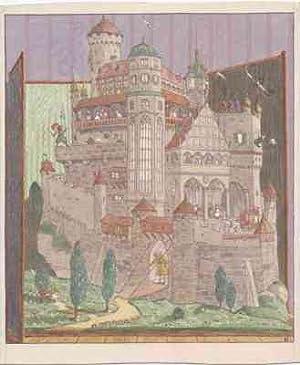 Märchenschloss vor Paravent.: Kutzer, Ernst: