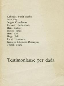 Testimonianze per dada. (In: il canguro. Anno: Dada - Gabriella