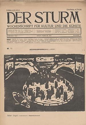 Der Sturm. Wochenschrift für Kultur und die Künste. Jahrgang 1912, Nr. 97, Februar. ...