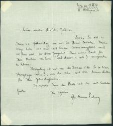 Eighd Einseitiger Brief Mit Signatur Ca Din A5 Dat Wien Am 15