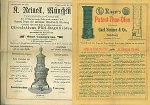 A. Reineck, München, Specialitäten-Geschäft, Circulations-Füll-Reguliröfen...