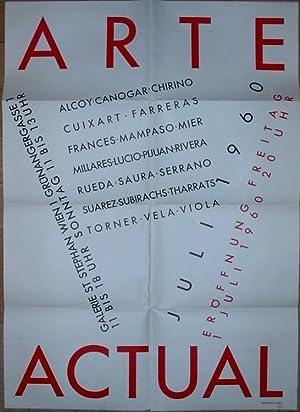 Arte Actual. Eröffnung Freitag 1 Juli 1960: Galerie nächst St.