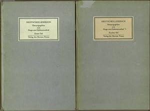 Deutsches Lesebuch. Erster Teil. Zweiter Teil.: Hofmannsthal, Hugo von (Hrg.):
