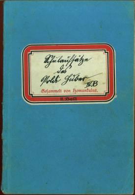 Schulaufsätze des Poldi Huber.: Homunkulus - (d. i. Robert Weil):