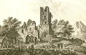Salzburg] - Ruine bei Salzburg [d.i. Plainburg bei Grossgmain].: Adam, G.: