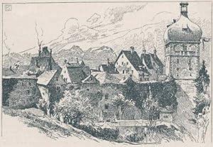 Bregenz - Oberstadtpartie mit Martinsturm.