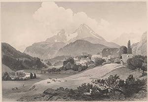 Deutschland] - Berchtesgaden. View Berchtesgaden - Vue de Berchtesgaden.: Fischbach, Johann - C. ...
