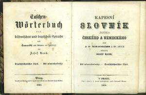 Taschen-Wörterbuch der böhmischen und deutschen Sprache nach Sumavský und Anderen neu bearbeitet. ...