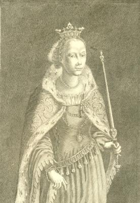 Sophia Joannis Bav. Ducis ex Cathar. Gric. Filia Wenceslao Bohem. Regi Mense. 1393 - 1428.: ...