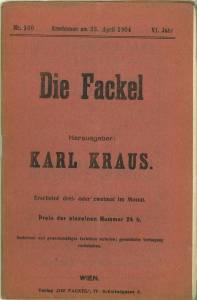 Die Fackel. VI. Jg., Nr. 160, 23. April 1904.: Kraus, Karl (Hg.):