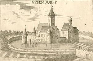 Bruck a. d. Leitha] - Gezendorff [Götzendorf].: Niederösterreich - Vischer, Georg Matthaeus:
