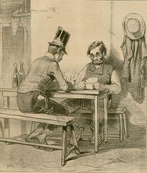 La Boite aux lettres. No. 14. - [Kartenspieler].: Karikaturen - Caboche, Grégoire & Cie.: