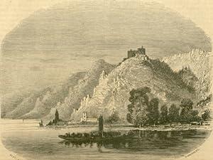De Linz a Vienne. Le Chateau de Dürrenstein. Le chateau de Durrenstein, où fut enferm&...