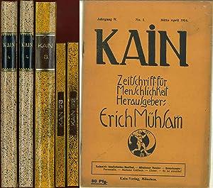 Kain. Zeitschrift für Menschlichkeit. Jahrgang I, No.: Mühsam, Erich: