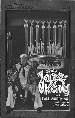 Der Jazz-König mit Paul Whitemann und seinem Orchester. Regie: John Murray Anderson. Musik: ...