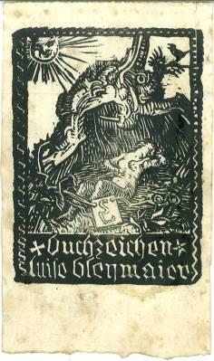 Exlibris] - Buchzeichen Luise Bleymaier.: Lobisser, Switbert: