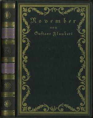 November. Ein Roman. Mit sechs Lithographien von: Flaubert, Gustave: