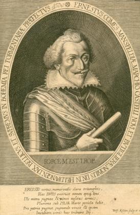 Ernestus Comes Mansfeldiae Marchio Castelli novi, et Butiglierae Nobilis DN in Heldrungen, DVX ...