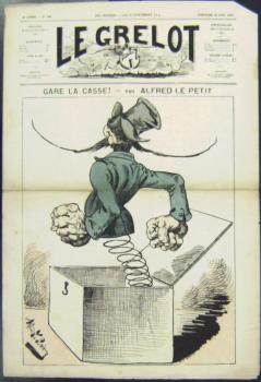 Gare la Casse! In: Le Grelot, 4e. année, Nr. 168, Dimanche 28 Juin 1874.: Le Petit, Alfred: