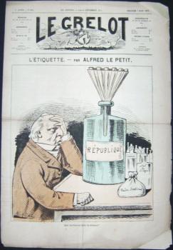 L'Ètiquette. In: Le Grelot, 5e. année, Nr. 204, Dimanche 7 Mars 1875.: Le Petit, Alfred: