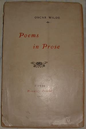 Poems in Prose.: Wilde, Oscar.
