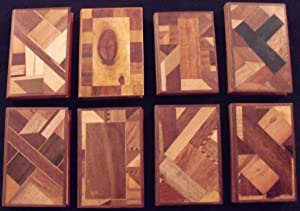 A Collection of Eight Wooden Bindings.