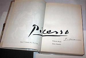 Picasso.: Boeck, Wilhelm & Jaime Sabartes.