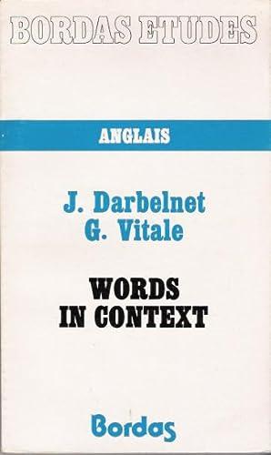 Words in Context (Bordas Etudes - Anglais): Darbelnet, J.; Vitale, G.