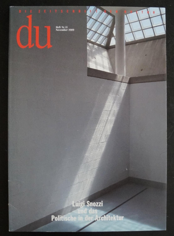Du 585 | November 1989: Luigi Snozzi