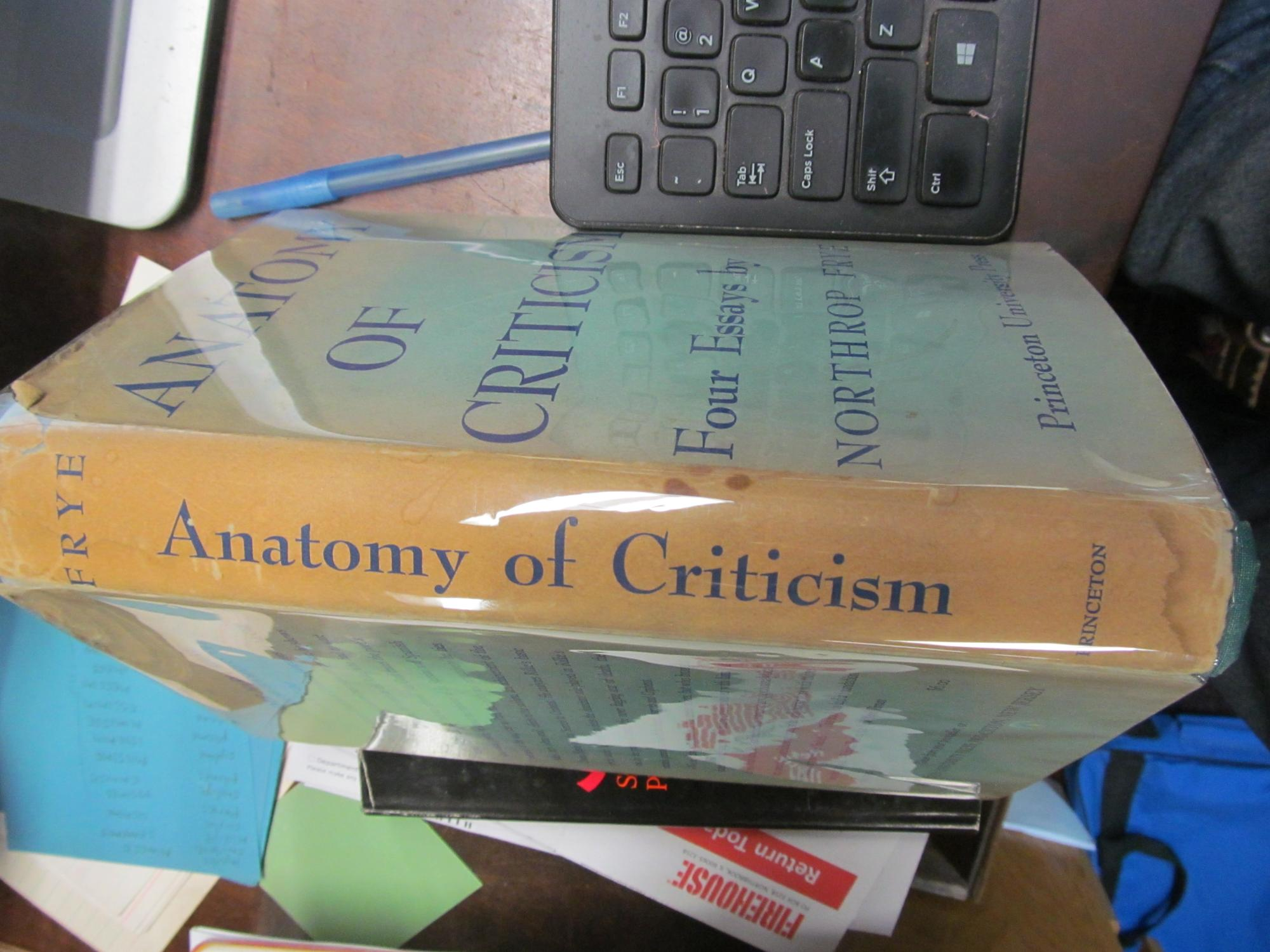 Anatomy Criticism by Northrop Frye - AbeBooks