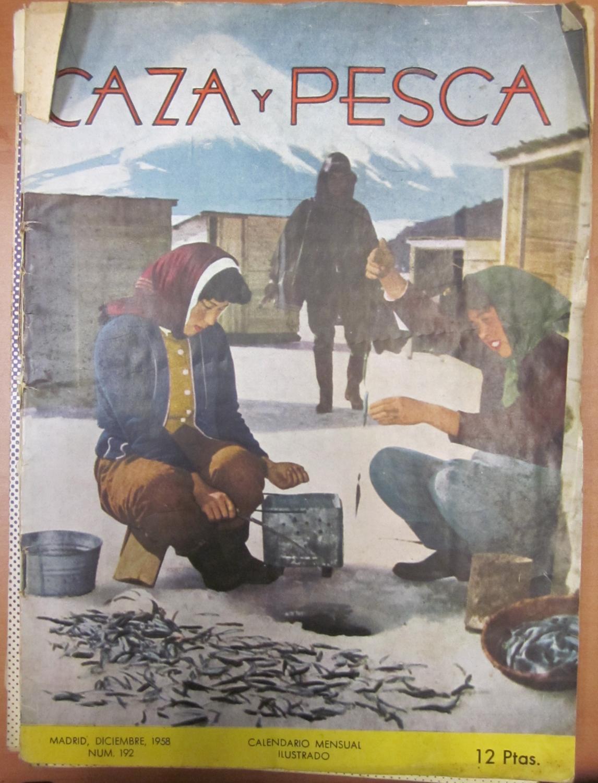 Calendario 1958.Caza Y Pesca Calendario Mensual Ilustrado