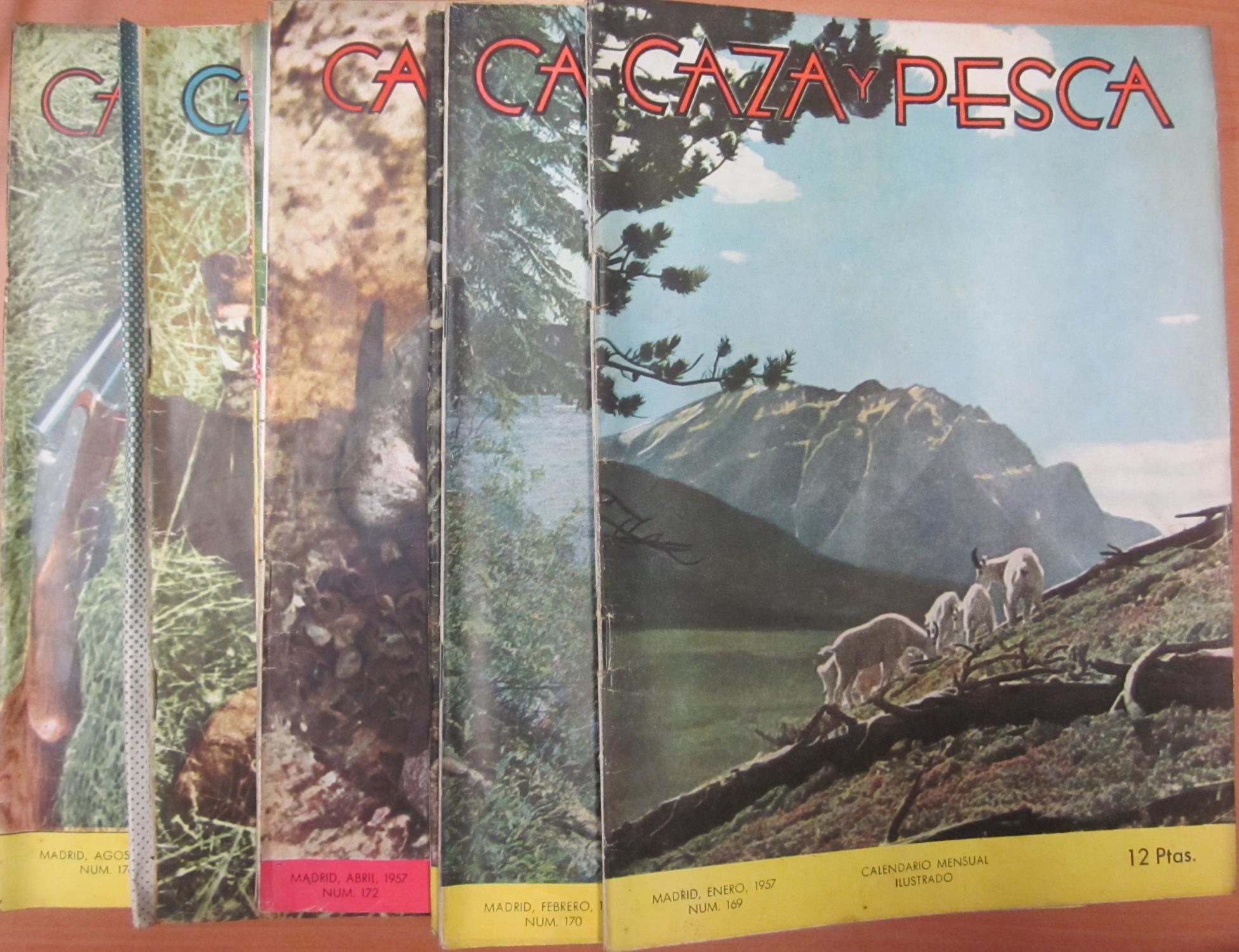 Calendario Del Ano 1957.Caza Y Pesca Calendario Mensual Ilustrado