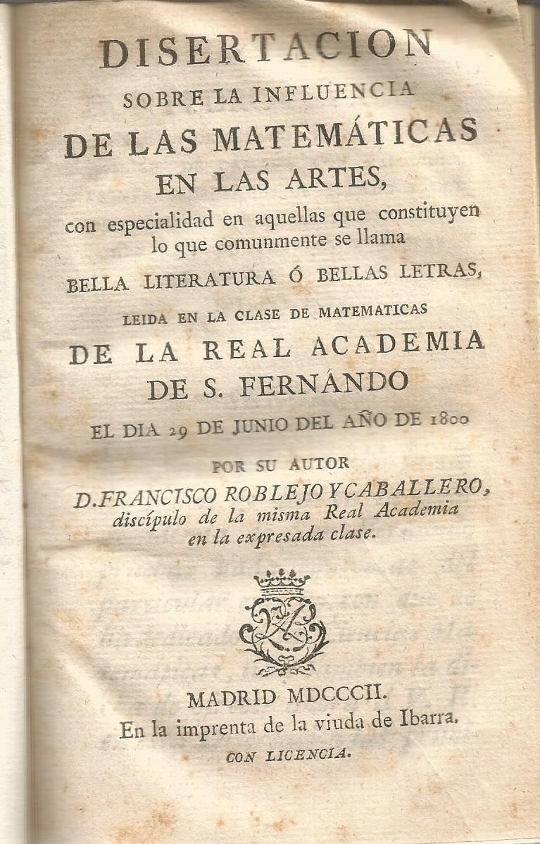 Disertacion Sobre La Influencia De Las Matematicas En Las Artes Con